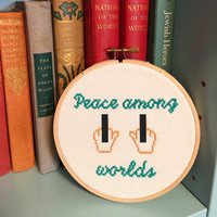 "Rick & Morty Quote Handmade 5"" Cross Stitch"
