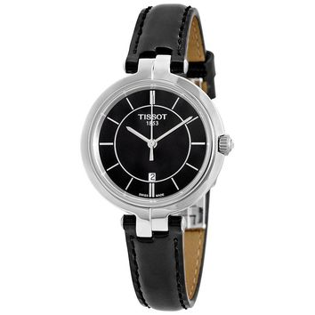 Tissot Flamingo Black Dial Ladies Quartz Watch T0942101605100
