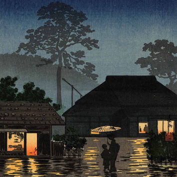 Yamato-e Art Printed on Canvas for Japanese Painting Home Wall Decor Without Frame