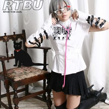 Grotesque Guro Lolita Gothic Punk Skull Hospital Nurse Belted Uniform Macabre