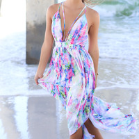 Watercolor Falls Maxi Dress
