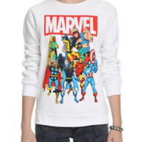 Marvel Group Girls Crew Pullover