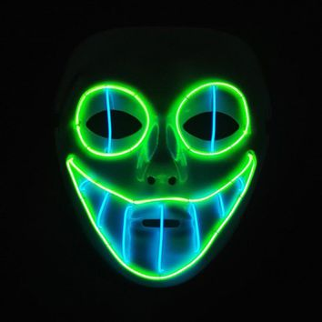 Luminous Mask LED Wire Clown Mask Halloween & Carnivals Party