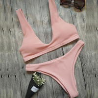 2017 Summer Sexy Hot Swimsuit New Arrival Beach Swimwear Bikini (Pink)