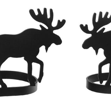 Wrought Iron Moose Curtain Tie Back -Set