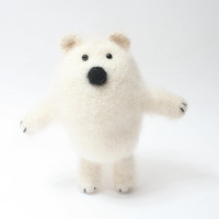 Polar bear, Mohair bear, Teddy Bear, Stuffed animal, Knitted bear