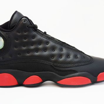 Air Jordan 13 Retro Black Gym Red GS Basketball Shoes <>