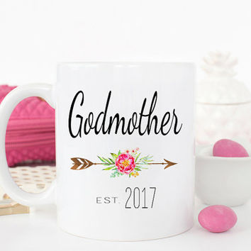 Godmother Gift, Baptism Gift, Christening Gift, Godmother mug, Godmother, gift for godmother, fairy godmother, Gift for godparent Coffee Mug