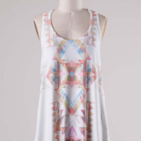 White Abstract Sublimation Tank