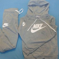 Nike:Sleeve Shirt Sweater Pants Sweatpants Set Two-Piece Sportswear-6