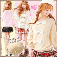 Rakuten: [three ribbon & back ribbon ♪ dolman knit tops |] P]It has been had ◆- Shopping Japanese products from Japan