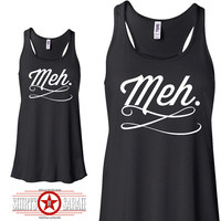 Meh Flowy Tank Top Racerback Women's Cute Summer Top Shirt Apparel Women Ladies