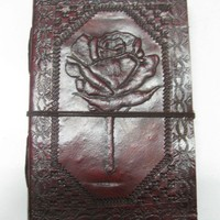 Leather Journal Celtic Rose Design Embossed Handmade Pure Genuine Leather Bound travel Diary/Journal/Sketchbook-  gift for him or her
