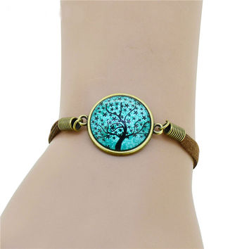 Tree of Life Lobster Clasp Charm Bracelet