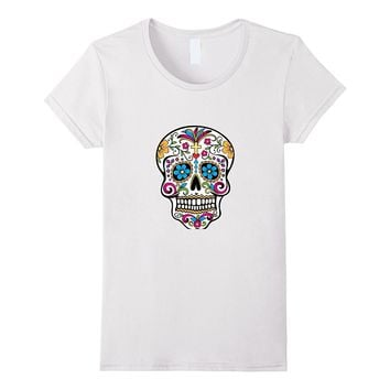 Cool Colorful Sugar Floral Skull Shirt| Men- Women- Youth