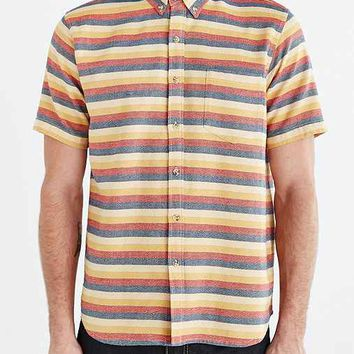 Jed & Marne Andy Stripe Short-Sleeve Button-Down