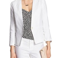 Banana Republic Womens Factory Linen Suit Blazer