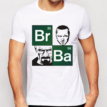 Letter Printed Breaking Bad logo Men T Shirts Round Neck Short Sleeve Novelty Male Tops High Quality Boy Tee Shirts