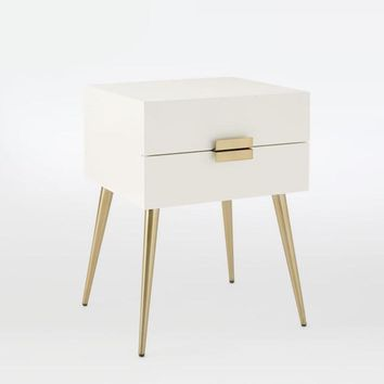 Stoving Varnish 15.7'' Bedside Table