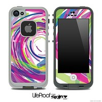 Abstract Color Brushes V2 Skin for the iPhone 5 or 4/4s LifeProof Case