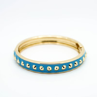 Tiny spikes bangle bracelet