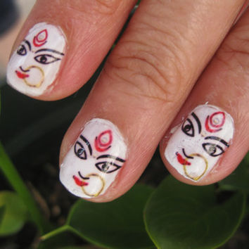 flirty HINDU GODDESS girl nail decals laxmi cutie 14 decals included