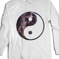 Starry Night Zen-Unisex White T-Shirt