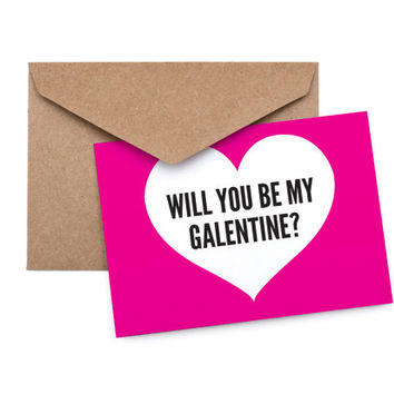 Printable Valentine's Day Card / Funny Valentine / Galentine / Friend / Heart