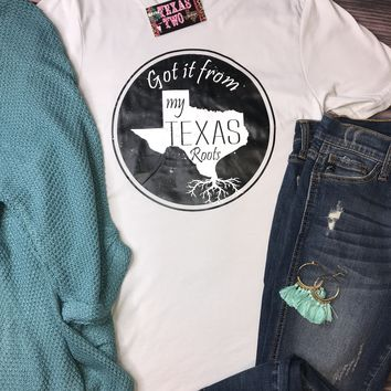 Got it from my Texas Roots Graphic Tee (S-XL)