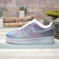 Nike Air Force 1 07 LV8 Metallic Silver Pink - Best Deal Online