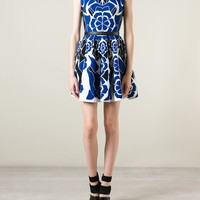 Alexander Mcqueen Flower Collage Jacquard Dress - Luisa World - Farfetch.com
