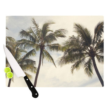 "Catherine McDonald ""Boho Palms"" Coastal Trees Cutting Board"