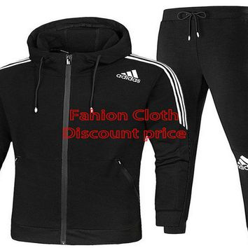 Adidas Casual Sweatpants 2018 Spring Fashion Trend Clothes AK L-4XL AD529 Black White