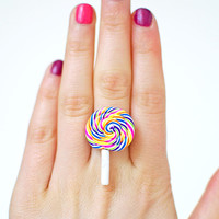 Swirl Lollipop Ring