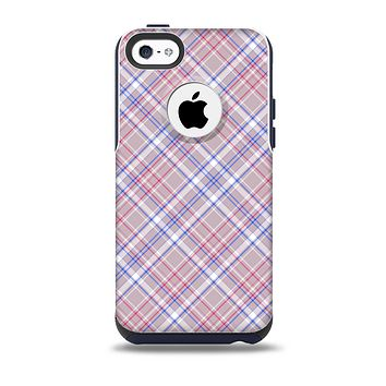 The Pink and Blue Layered Plaid Pattern V4 Skin for the iPhone 5c OtterBox Commuter Case