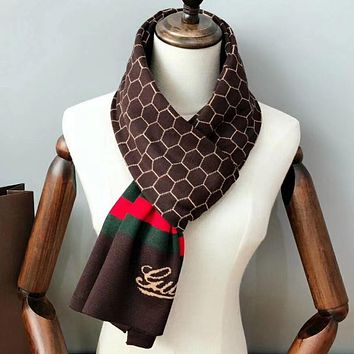 Perfect Gucci  Women Wool Scarf Shawl Scarf