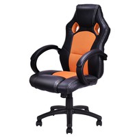 High Back Race Car Style Bucket Seat Office Desk Chair Gaming Chair Orange New