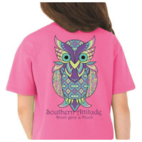 Country Life Southern Attitude Owl Don't Give A Hoot Pink T-Shirt