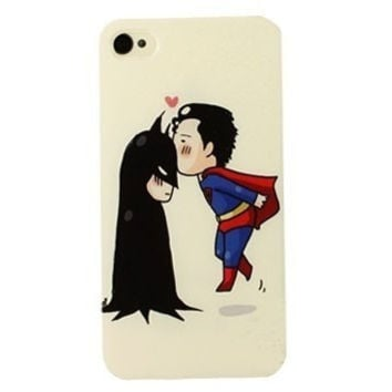 Superman&Batman Hard Case for iPhone 4 4S