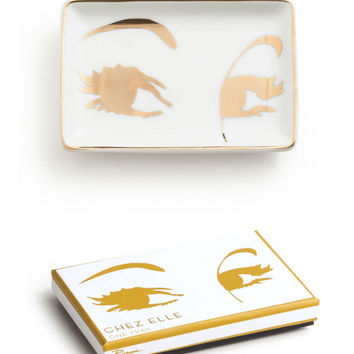Chez Elle Eye Lashes Trinket Tray {Gold}