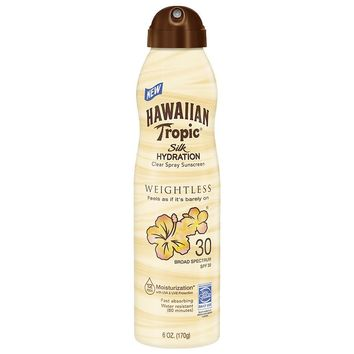 Hawaiian Tropic Sunscreen Silk Weightless Continuous Spray SPF 30