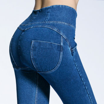 Fashion Pants Freddy Jeans Sexy Woman Jeans High Waist Pant Push Up Jeans Peach Hips Jegging Pants Trousers Pantalon Femme