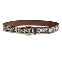 Lucky Brand Floral Border Embroidery Womens - Brown