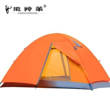 Quality Waterproof Double Layer 2 person Outdoor Camping Tent Hiking Beach Tent Tourist bedroom travel 2017 china barraca tenda