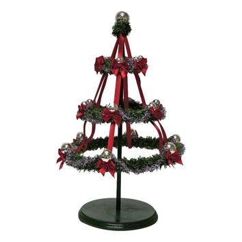 Carolers Silver Hoop Tree