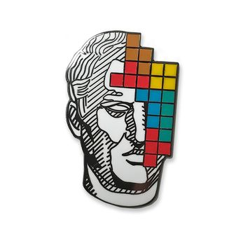 Block Enamel Pin