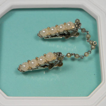 Faux Pearl Sweater Clips, Classic 50s