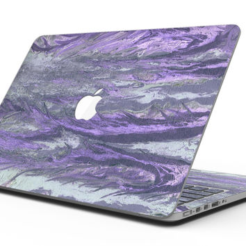 Abstract Wet Paint Purple v3 - MacBook Pro with Retina Display Full-Coverage Skin Kit