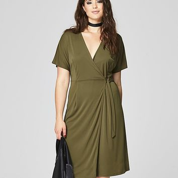 Kimono Ring Wrap Dress | SimplyBe US Site