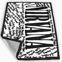Nirvana all member and song titles collage Blanket for Kids Blanket, Fleece Blanket Cute and Awesome Blanket for your bedding, Blanket fleece *